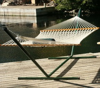Deluxe Hammock, Stand and Pillow Combo