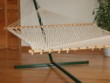 deluxe Bougainville rope hammock made with braided ring-spun polyester